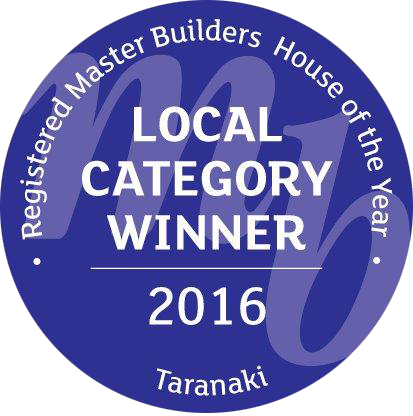 Registered Master Builders House of the Year Taranaki 2016 Local Category Winner Award